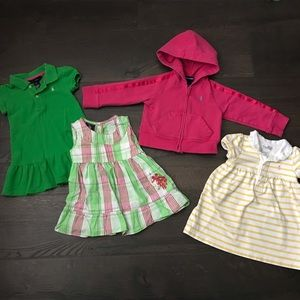 🐎 Ralph Lauren Lot of Dresses and Jacket - 9-12m